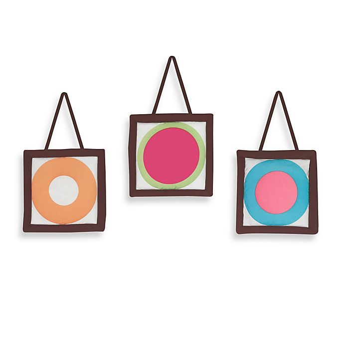 Alternate image 1 for Sweet Jojo Designs Deco Dot 3-Piece Wall Hanging Set