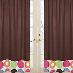 Sweet Jojo Designs Deco Dot Window Panel Pair in Chocolate