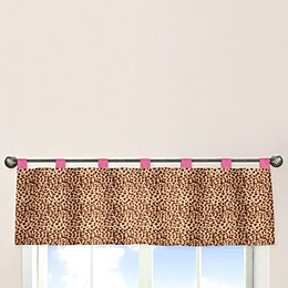 Sweet Jojo Designs Cheetah Girl Window Valance