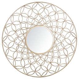Safavieh Trinda 31.5-Inch Round Mirror in Champagne