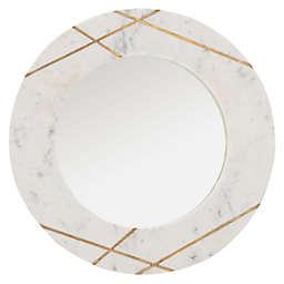 Safavieh Hale 22.5-Inch Round Mirror in Marble
