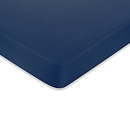 Sweet Jojo Designs Nautical Nights Fitted Crib Sheet in Dark Blue