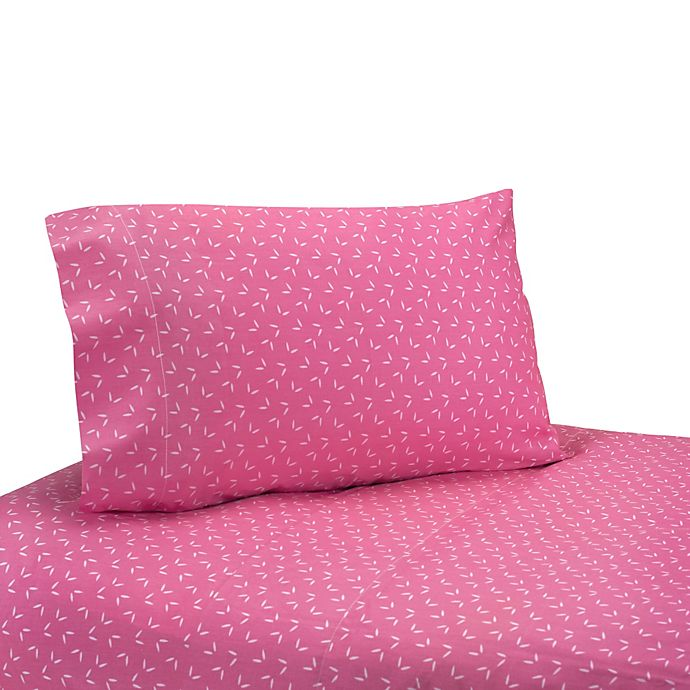 Alternate image 1 for Sweet Jojo Designs Happy Owl Sheet Set in Pink
