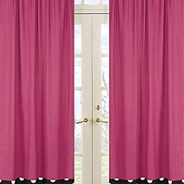 Sweet Jojo Designs Hot Dot Window Panel Pair in Pink