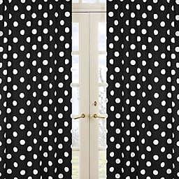 Sweet Jojo Designs Hot Dot Polka Dot Window Panel Pair