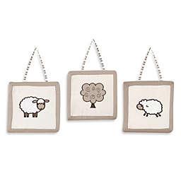 Sweet Jojo Designs Little Lamb 3-Piece Wall Hanging Set