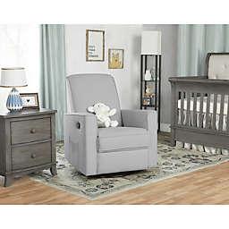 evolur Raleigh Glider Chair in Gray