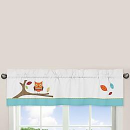 Sweet Jojo Designs® Hooty Window Valance in Turquoise/Lime