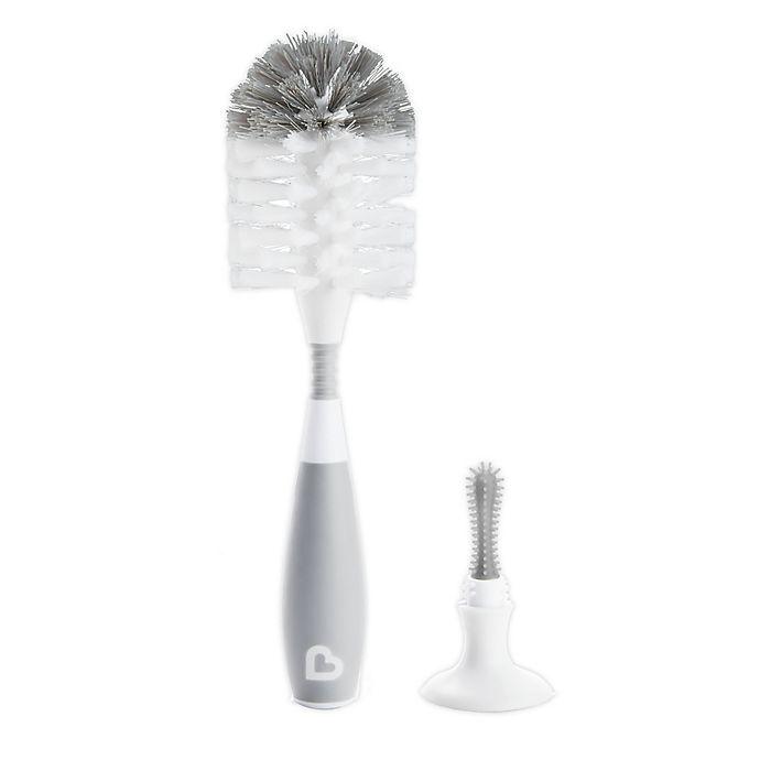 Alternate image 1 for Munchkin® Bristle Baby Bottle Brush in Grey