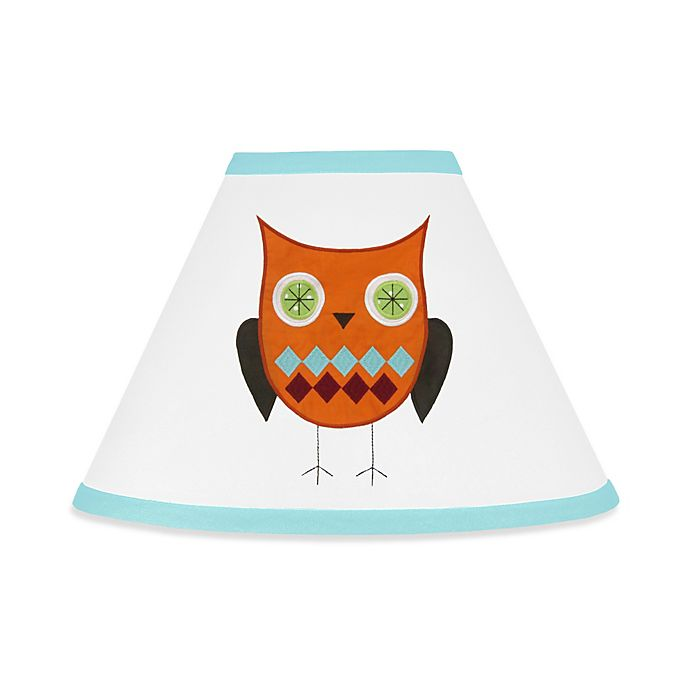 Alternate image 1 for Sweet Jojo Designs® Hooty Lamp Shade in Turquoise/Lime