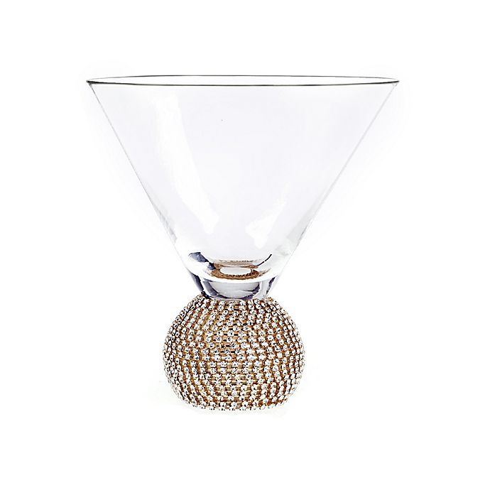 Alternate image 1 for Qualia Bling Martini Glasses (Set of 2)