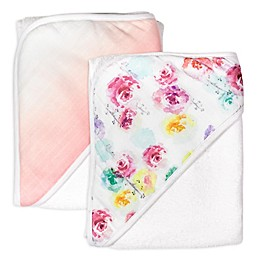 The Honest Company® 2-Pack Rose Blossom Organic Cotton Hooded Towels