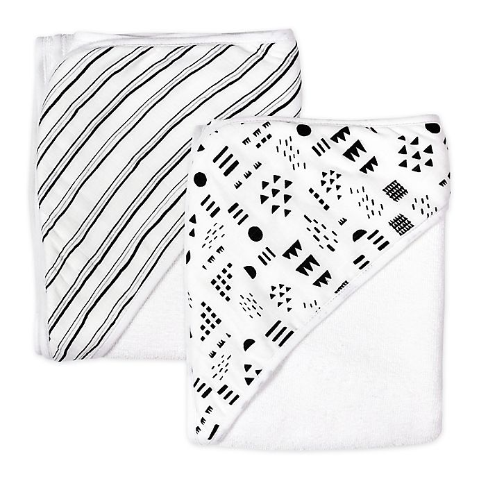 Alternate image 1 for The Honest Company® 2-Pack Pattern Play Hooded Towels