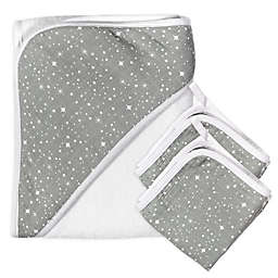The Honest Company® 3-Piece Twinkle Star Hooded Towel and Washcloth Set