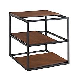 Holly & Martin® Decklan 24.25-Inch Square Sliding Shelf End Table in Dark Tobacco