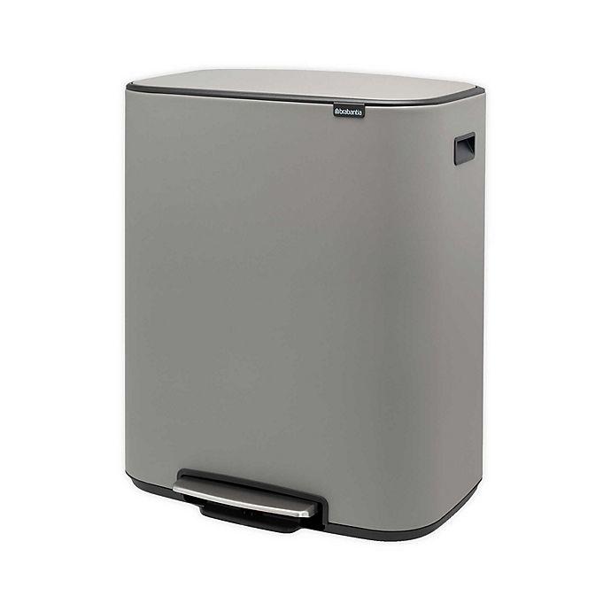 Alternate image 1 for Brabantia® Dual Compartment BO Pedal Bin Steel 60-Liter Trash Can