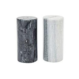 Fox Run™ Marble Salt & Pepper Shakers in Black/White (Set of 2)