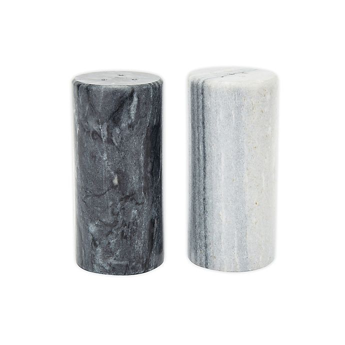 Alternate image 1 for Fox Run Brands™ Marble Salt & Pepper Shakers in Black/White (Set of 2)