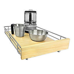 Lynk Professional® Select Steel Cabinet Organizer in Chrome/Wood