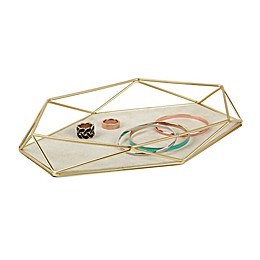 Umbra Prisma Jewelry Organizer Tray in Matte Brass