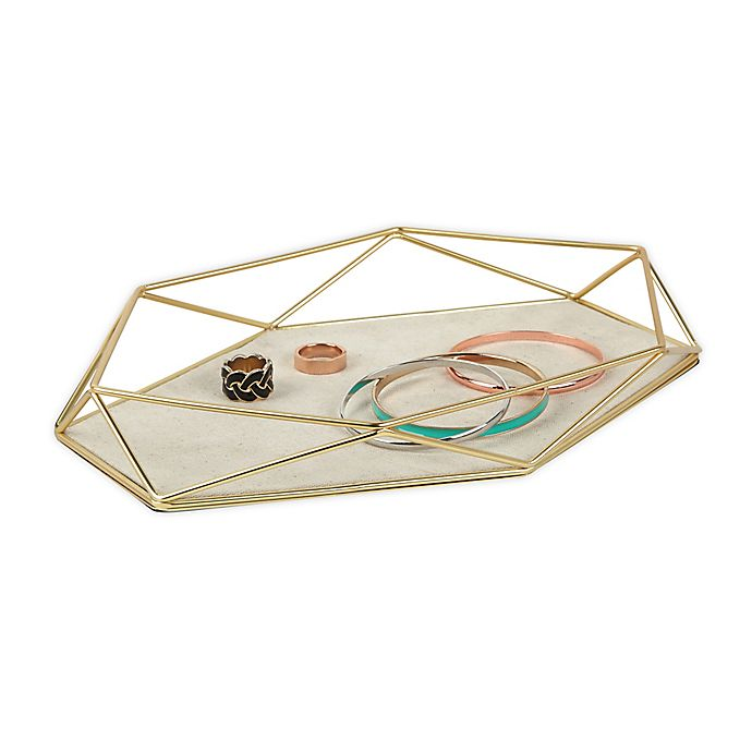 Alternate image 1 for Umbra Prisma Jewelry Organizer Tray in Matte Brass