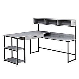 Monarch Specialties Computer Desk with Side Station