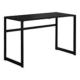 Monarch Specialites 48-Inch Tempered Glass and Black Metal Computer Desk