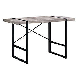 Monarch Specialties 49-Inch Industrial Computer Desk in Distressed Taupe