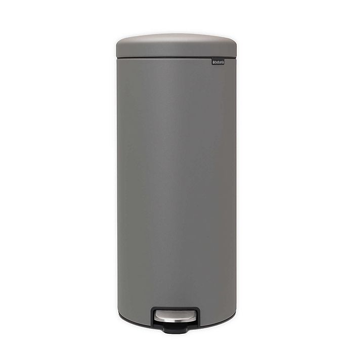 Alternate image 1 for Brabantia® newIcon 8-Gallon Steel Tall Step Trash Can in Grey