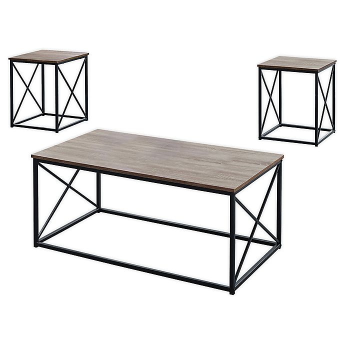 Alternate image 1 for Monarch Specialties 3-Piece Coffee Table Set