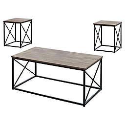 Monarch Specialties 3-Piece Coffee Table Set
