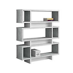 Monarch Specialties Modern Bookcase in Grey