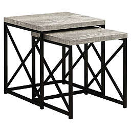 Monarch Specialties 2-Piece Nesting Table Set