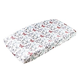 Copper Pearl Fashion Changing Pad Cover in Butterfly