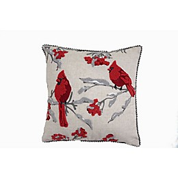 Cardinal Square Throw Pillow in Natural