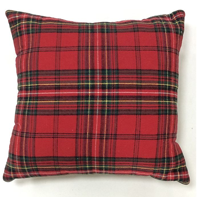 Alternate image 1 for Bee & Willow™ Home Plaid Square Throw Pillow in Red