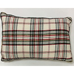 Bee & Willow™ Home Plaid Oblong Throw Pillow in Ivory