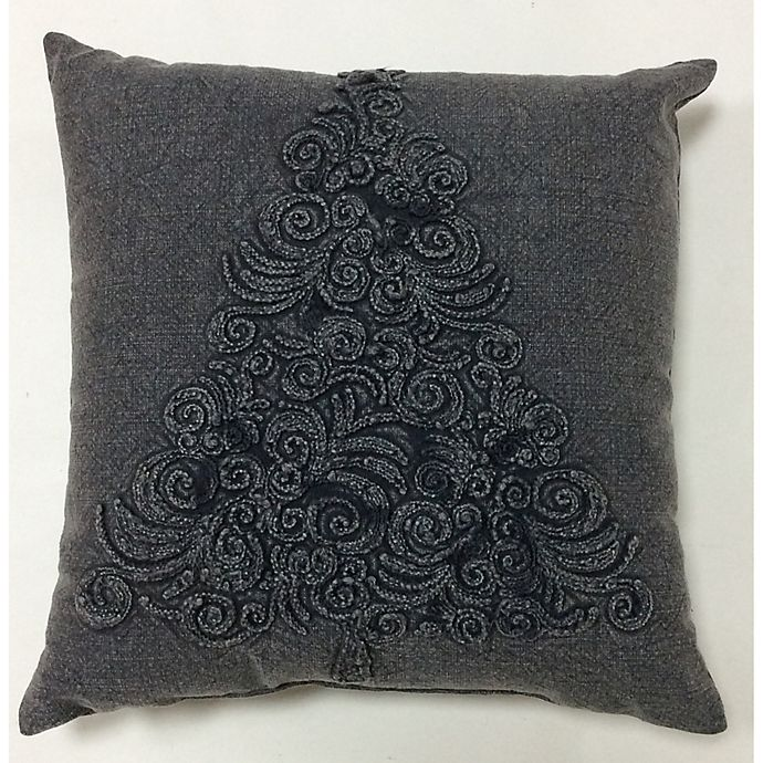 Alternate image 1 for Bee & Willow™ Home Vintage Tree Textured Square Throw Pillow in Charcoal