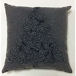 Bee & Willow™ Home Vintage Tree Textured Square Throw Pillow in Charcoal