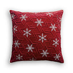 Bee & Willow™ Home Snowflake Square Throw Pillow in Red