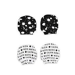 Calvin Klein 2-Pack Alphabet Mittens in Black/White