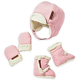 JJ Cole's 5-piece Blush Bomber Hat, Mittens and Boots Set in Pink