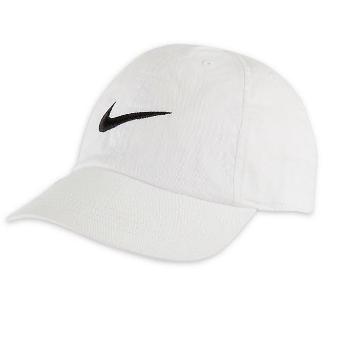 Alternate image 1 for Nike® Size 12-24M Swoosh Cap in White