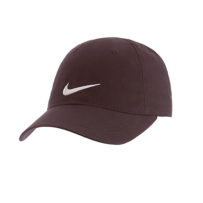 Alternate image 1 for Nike® Size 12-24M Swoosh Cap in Black