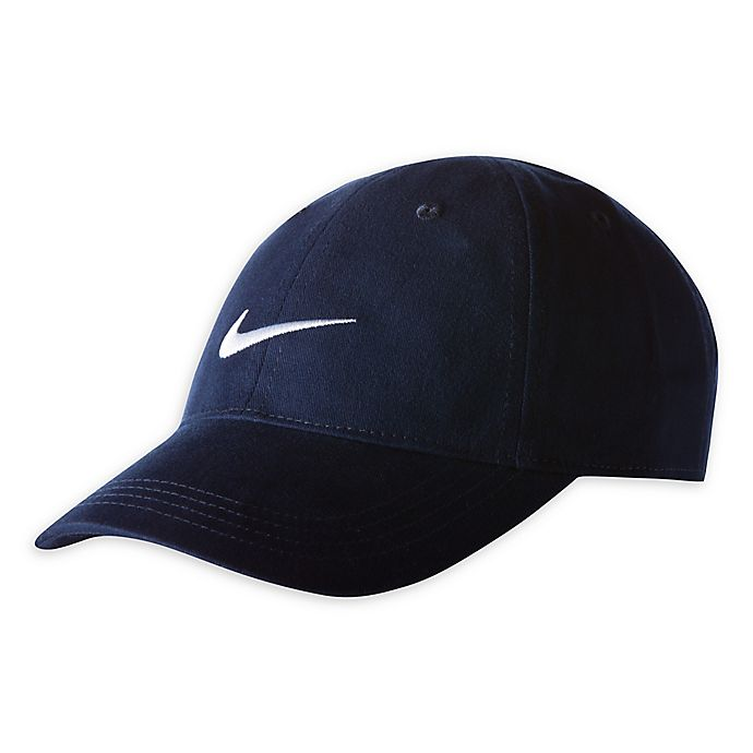 Alternate image 1 for Nike® Size 12-24M Swoosh Cap in Obsidian Navy