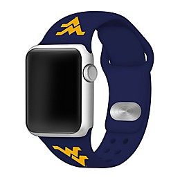 West Virginia University Apple Watch® Short Silicone Band in Navy