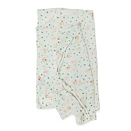 Loulou Lollipop Bunny Meadow Swaddle Blanket