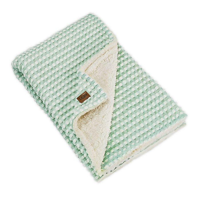 Alternate image 1 for UGG® Remy Dot Sherpa Throw Blanket in Mint