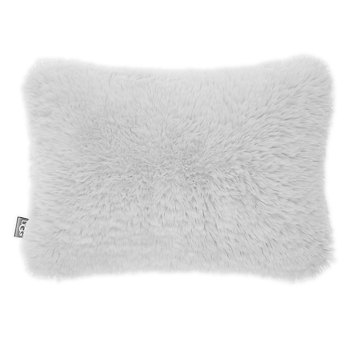 Alternate image 1 for UGG® Trixie Plush Oblong Throw Pillow in Glacier Grey