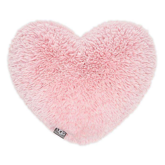 Alternate image 1 for UGG® Trixie Heart Plush Throw Pillow